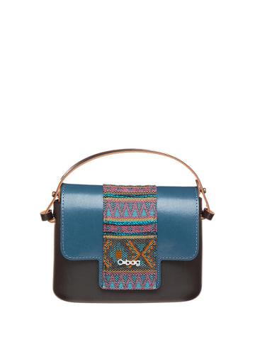 "O Bag Handtas ""O Pocket"" zwart/blauw - (B)19 x (H)13 x (D)6 cm"