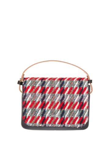 "O Bag Handtas ""O Pocket"" rood/grijs - (B)19 x (H)13 x (D)6 cm"