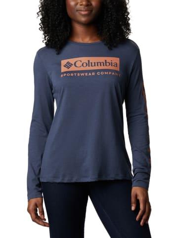 """Columbia Koszulka """"Autumn Trek"""" w kolorze granatowym"""