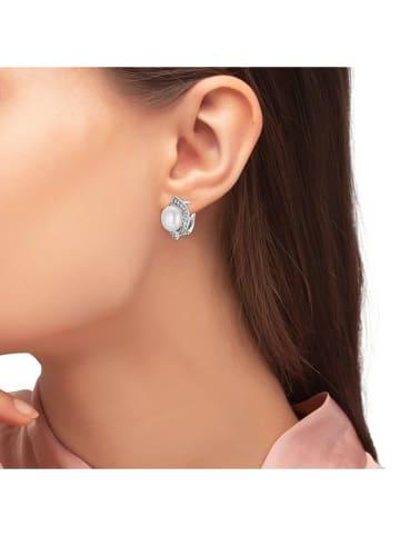 Steel_Art Kolczyki z perłami i cyrkoniami