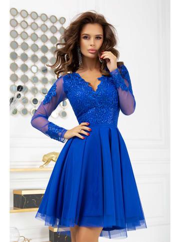 Bicotone Sukienka w kolorze niebieskim