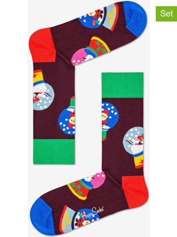 """Happy Socks Skarpety (2 pary) """"Snow Globe"""" ze wzorem"""