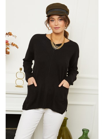 Soft Cashmere Pullover in Schwarz