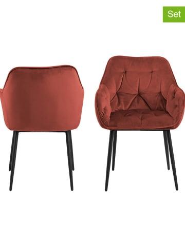 """AC Design 2-delige set: eetkamerstoelen """"Brooke"""" rood - (B)58 x (H)83 x (D)55 cm"""