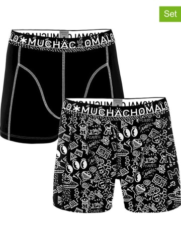 Muchachomalo 2-delige set: boxershorts wit/zwart