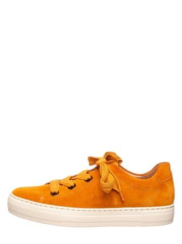 SALAMANDER Leren sneakers oranje