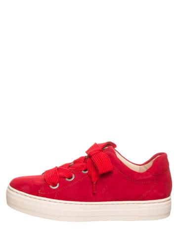 "SALAMANDER Leren sneakers ""Courtyard"" rood"