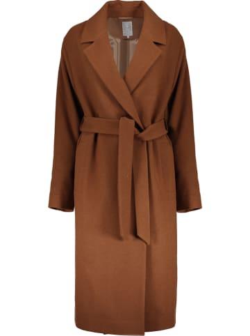 Geisha Wollen mantel bruin