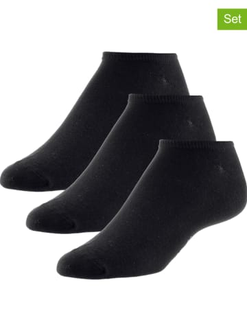 Unifit 3-delige set: enkelsokken zwart