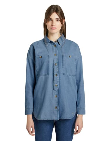 Tom Tailor Jeansbluse - Oversized fit - in Blau