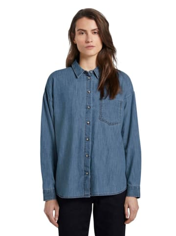 Tom Tailor Jeansbluse in Blau