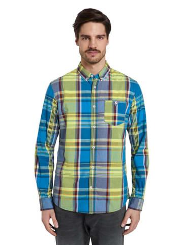 Tom Tailor Koszula - Regular fit - w kolorze niebiesko-żółtym