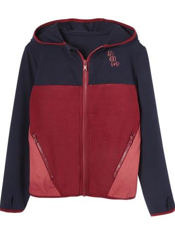 Vertbaudet Bluza w kolorze czerwono-granatowym