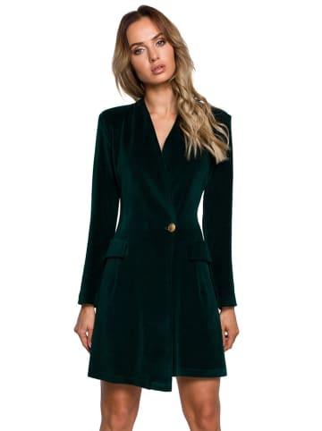 Made of emotion Sukienka w kolorze ciemnozielonym