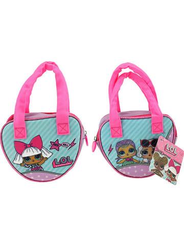 """Toi-Toys Henkeltasche """"L.O.L."""" in Pink/ Türkis - (B)17 x (H)25,5 x (T)3 cm"""