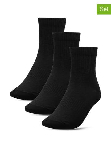 4F 3er-Set: Socken in Schwarz