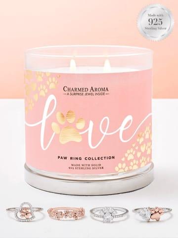 """CHARMED AROMA Schmuck-Duftkerze """"Paw"""" in Rosa - 640 g"""