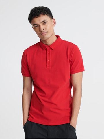 """Superdry Koszulka polo """"City"""" w kolorze czerwonym"""