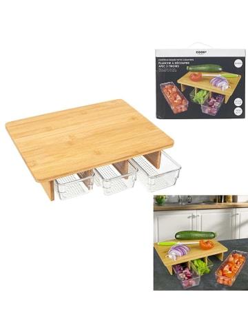COOK CONCEPT Deska w kolorze jasnobrązowym do krojenia - 30 x 25 cm