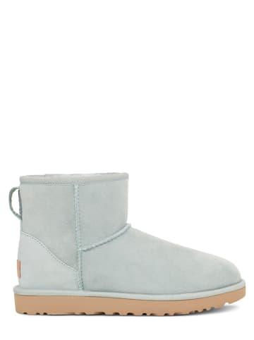 """UGG Leder-Boots """"Classic Mini"""" in Hellblau"""