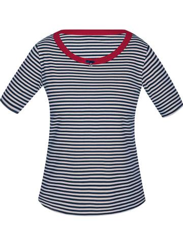 Sassa Pyjamashirt donkerblauw/wit/rood