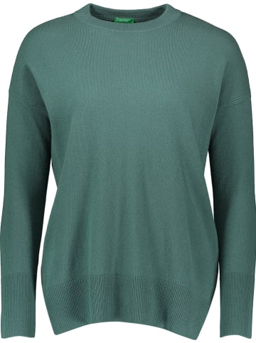 Benetton Sweter w kolorze zielonym