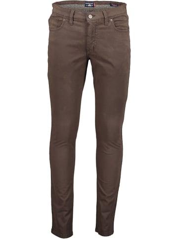 STATE OF ART Spodnie - Slim fit - w kolorze brązowym