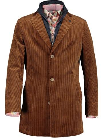 STATE OF ART Płaszcz sztruksowy w kolorze brązowym