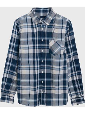 Gant Hemd in Blau/ Grau