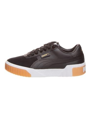 """Puma Shoes Skórzane sneakersy """"Cali Exotic"""" w kolorze czarnym"""