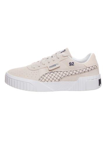 """Puma Skórzane sneakersy """"Cali Suede Quilted x SG"""" w kolorze beżowym"""