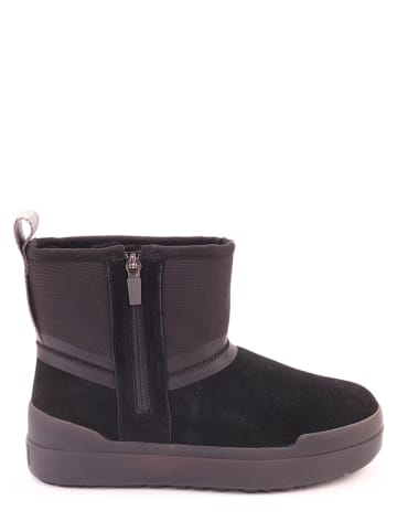 "UGG Leder-Boots ""Classic Tech Mini"" in Schwarz"