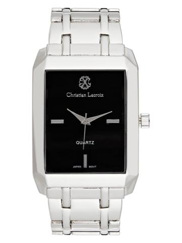 Christian Lacroix Zegarek kwarcowy w kolorze srebrno-czarnym