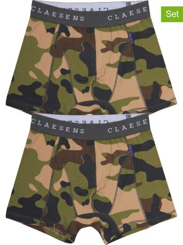 Claesens 2-delige set: boxershorts kaki