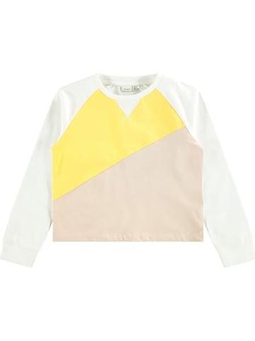 """Name it Sweatshirt """"Solisa"""" wit/geel/lichtroze"""