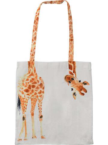 "Madre Selva Kids Tas ""Giraf"" oranje/lichtgrijs - (B)35 x (H)40 cm"