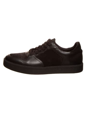 Clarks Leder-Sneakers in Schwarz