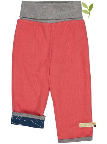 Loud + proud Spodnie dwustronne w kolorze czerwono-granatowym