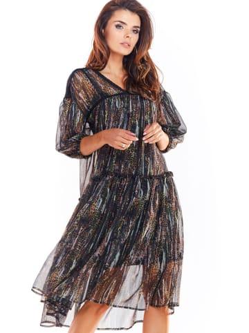Awama Kleid in Schwarz/ Bunt