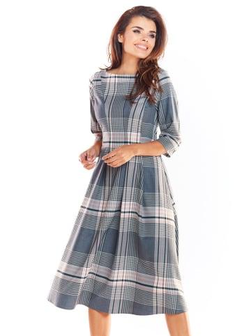 Awama Sukienka w kolorze kremowo-niebieskim