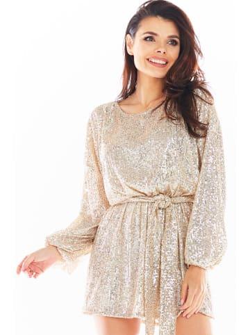 Awama Kleid in Beige