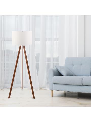 Scandinavia Concept Staande lamp wit/bruin - (H)115 cm