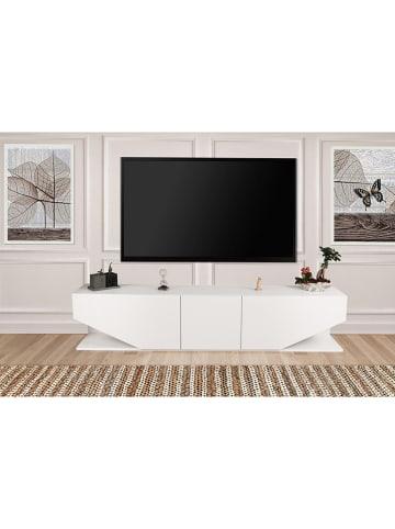 """Scandinavia Concept Szafka RTV """"Inci"""" w kolorze białym - 180 x 40 x 30 cm"""