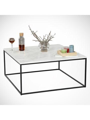 """Scandinavia Concept Ława """"Poly"""" w kolorze biało-czarnym - 75 x 43 x 75 cm"""