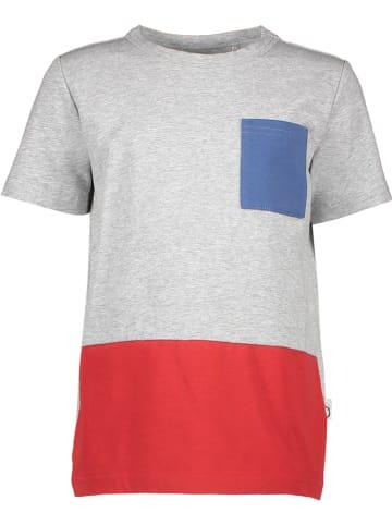 Lamino Shirt grijs gemêleerd/rood