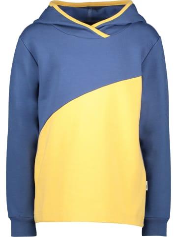 Lamino Bluza w kolorze niebiesko-żółtym