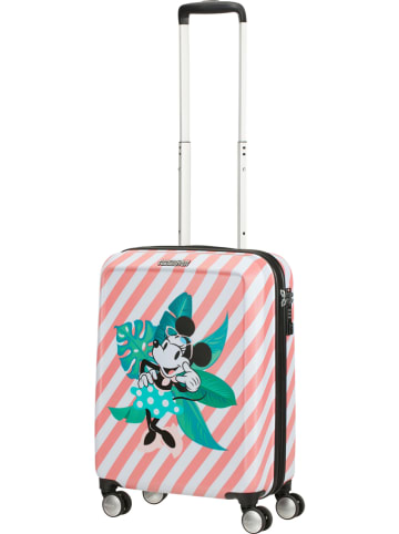 """American Tourister Hardcase-trolley """"Spin"""" lichtroze/wit - (B)40 x (H)55 x (D)20 cm"""