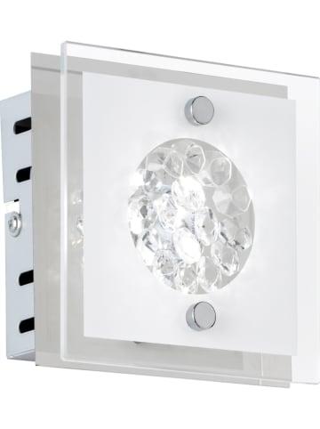 WOFI Ścienna lampa LED w kolorze srebrym - 12 x 12 cm