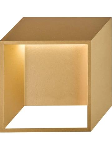 "WOFI Ledwandlamp ""Quebec"" goudkleurig - (B)25 x (H)25 cm"