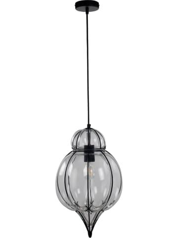 "ACTIOn by WOFI Hanglamp ""Midi"" zwart/transparant - Ø 28 cm"